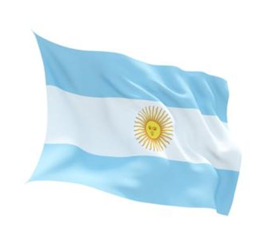 FLAG ARGENTINA INDOOR WALL 5x3