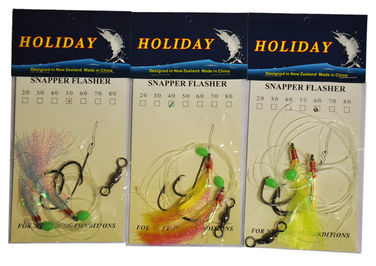 SNAPPER FLASHER RIGS 3 PACK ASSORTED