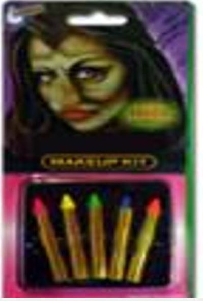 5PK NEON NO MESS MAKE UP CRAYON