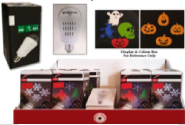 HWEEN 4-LED INDOOR LIGHT BULB PROJECTOR