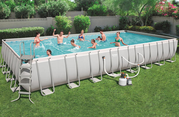 POWER STEEL FRAME POOL - 9.56M X 4.88M X 1.32M- SOLD OUT
