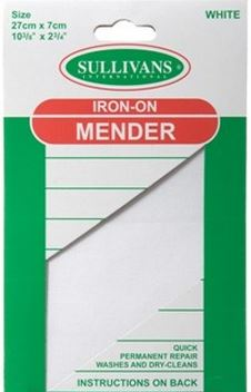 IRON-ON MENDER WHITE