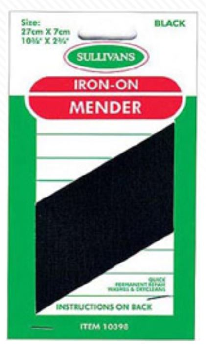 IRON-ON MENDER BLACK