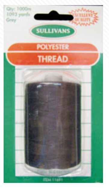 THREAD GREY 1000M