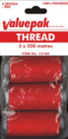 VALUEPAK THREAD RED 3X500M