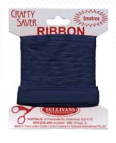 RIBBON 10MM NAVY