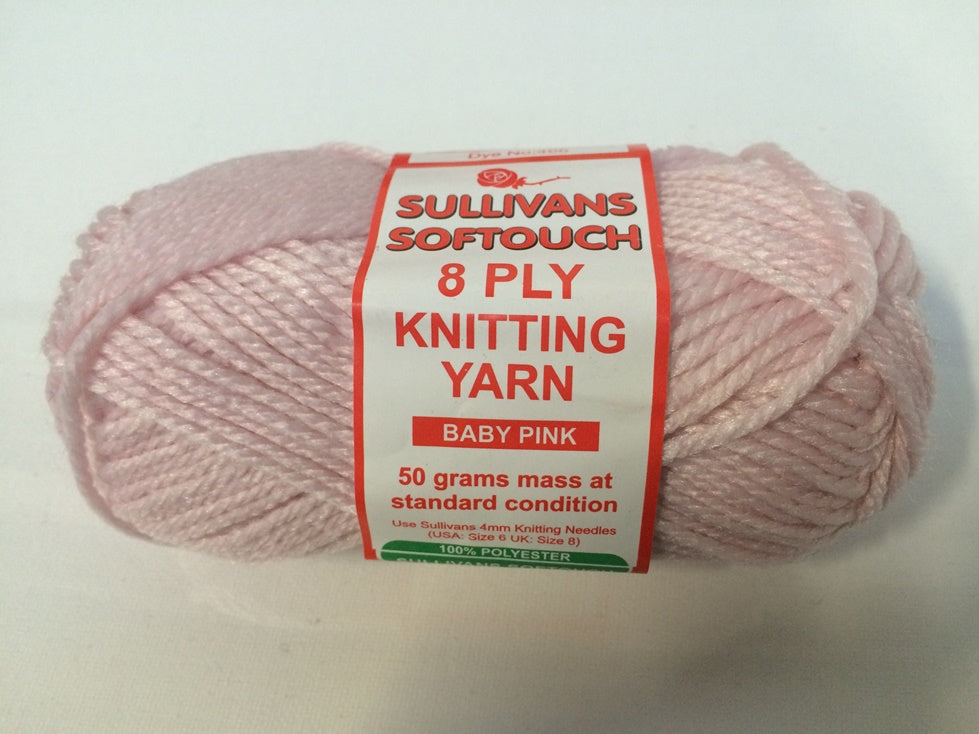 KNITTING YARN - SOFT TOUCH 50grm - B/PINK