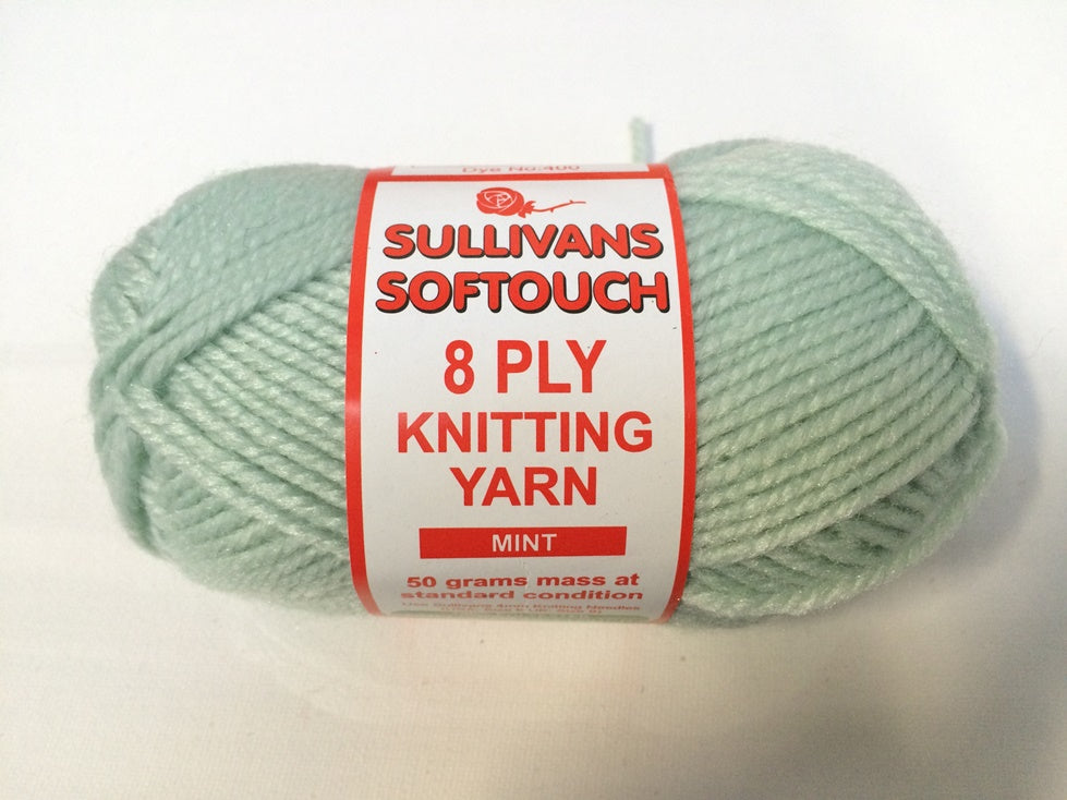 KNITTING YARN - SOFT TOUCH 50g - MINT
