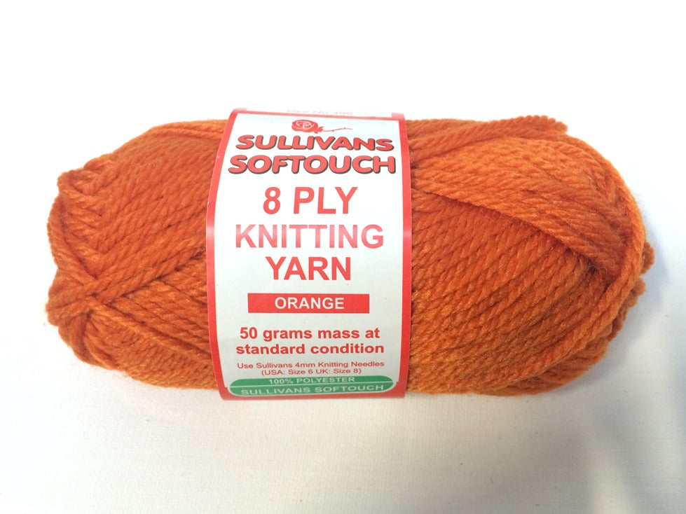 KNITTING YARN - SOFT TOUCH 50g - ORANGE