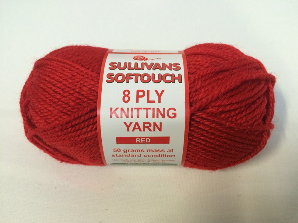 KNITTING YARN - SOFT TOUCH 50grm - RED