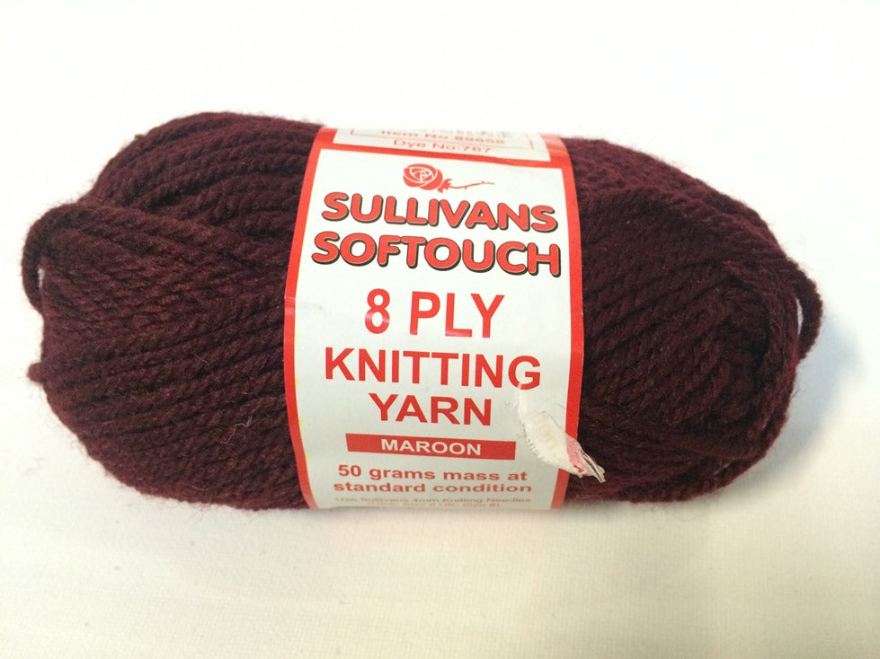 KNITTING YARN - SOFT TOUCH 50grm - MAROON