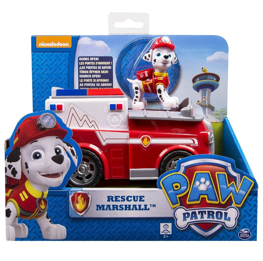 Paw Patrol Basic Vehicle - Marshalls Fire Truck