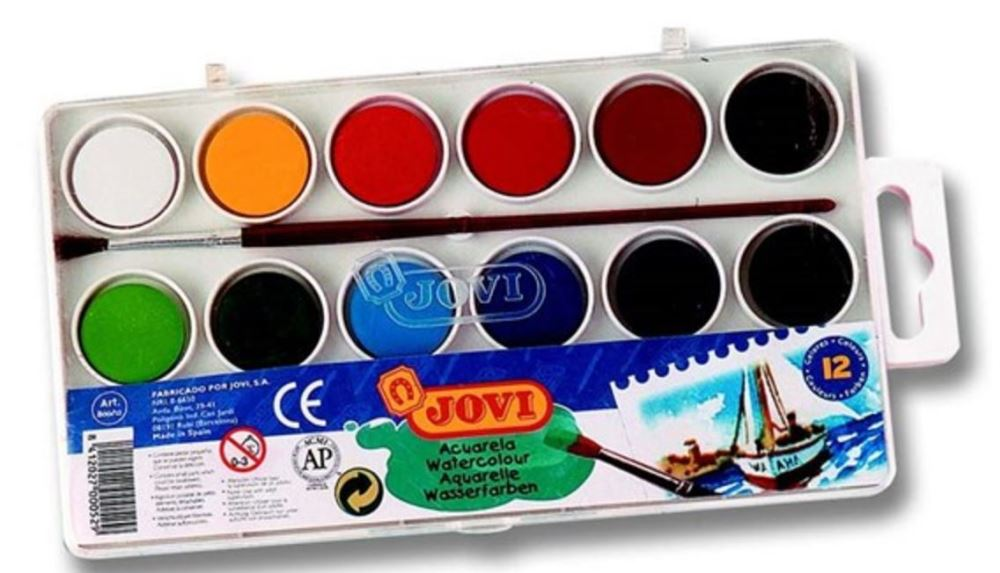 JOVI WATER COLOURS 22mm Bars 12s