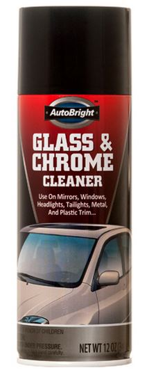 GLASS and CHROME CLEANER 12Z No AUTOBRIGHT
