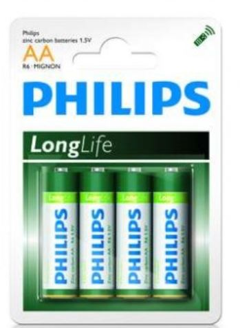 Philips Batteries - AA Zinc - 4pk