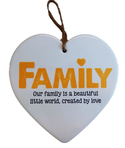 Ceramic Heart - Family