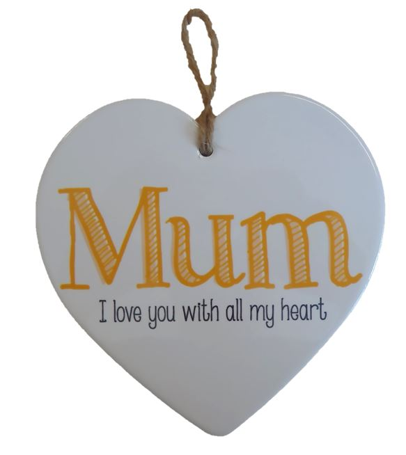 Ceramic Heart - I love Mum