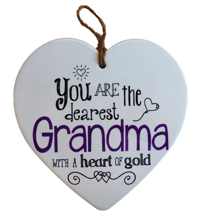 Ceramic Heart - Dearest Grandma
