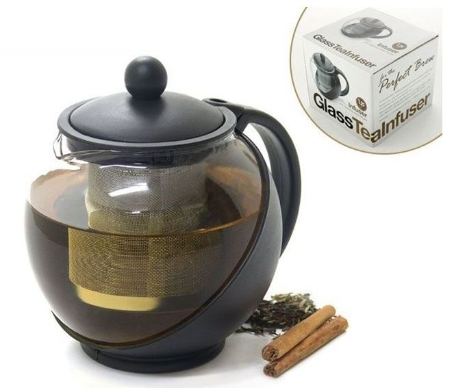 GLASS TEA INFUSER 1.25LT - GIFT BOX SET