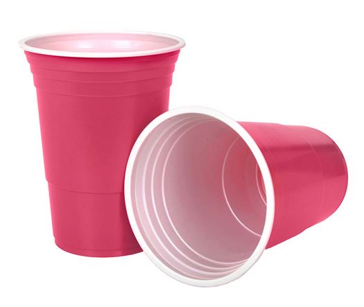 Kiwipong 25pk Party Cups 465ml - Pink