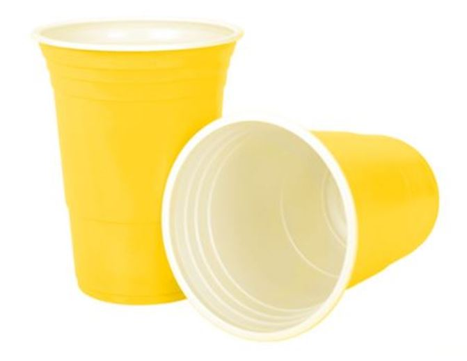 Kiwipong 25pk Party Cups 465ml - Yellow