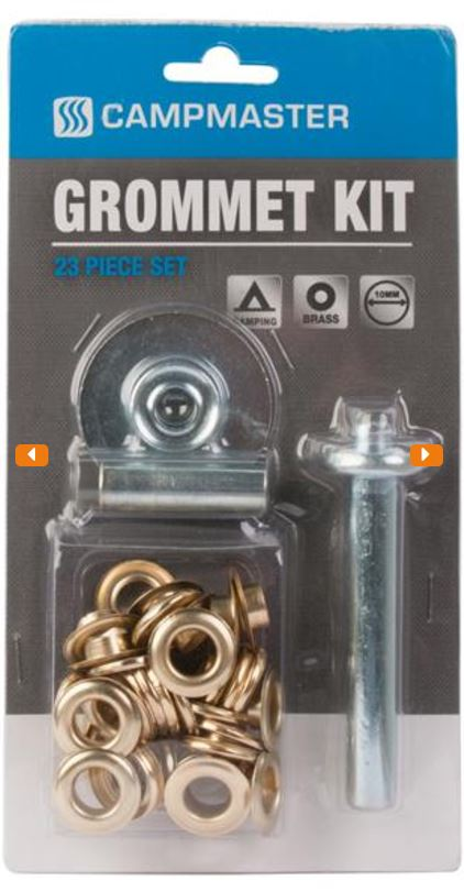 Campmaster 23pc Brass Plater Grommet Kit