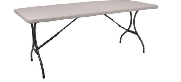 CAMPERS COLLECTION 183CM BLOW MOULD FOLDABLE TABLE