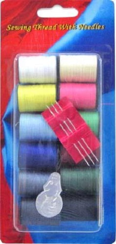SEWING THREAD WITH NEEDLES 16PC
