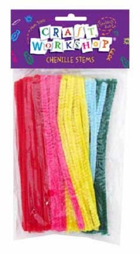 CRAFT WORKSHOP PIPECLEANERS COLOUR 50PC