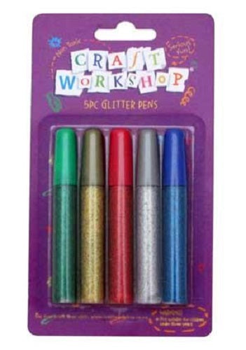 GLITTER GLUE PEN 5PC