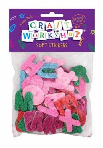 Craft Soft Stickers Glitter Letters