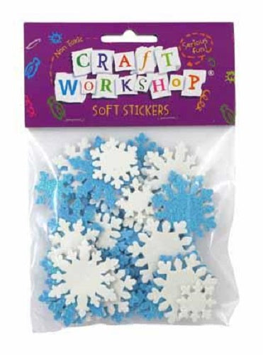 Craft soft stickers snowflakes