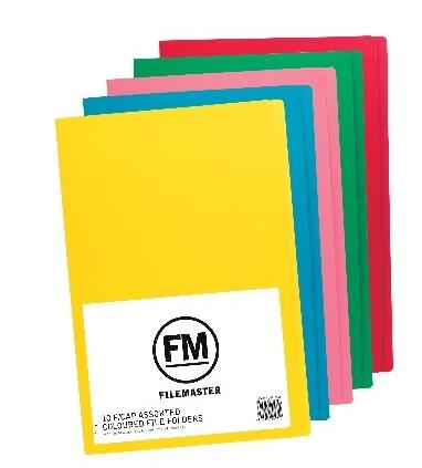 FM FILE FOLDER PACK 10 ASSORT COLOURS FOOLSCA