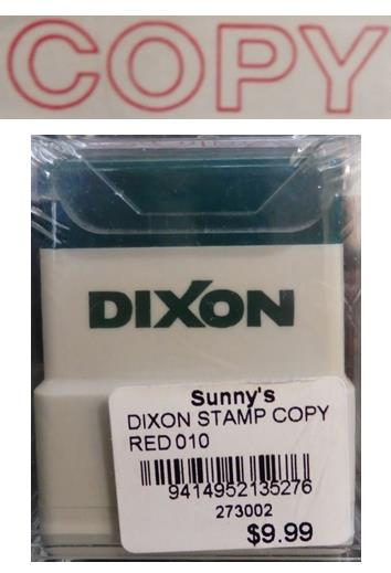 Dixon Stamp Copy Red