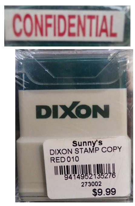 DIXON STAMP CONFIDENTIAL - RED