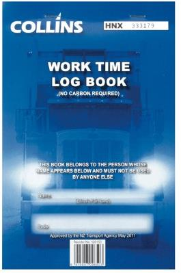 COLLINS DRIVING HOURS LOG BOOK A5 TRIPLICATE