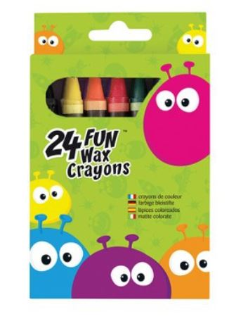 FUN 24 WAX CRAYONS