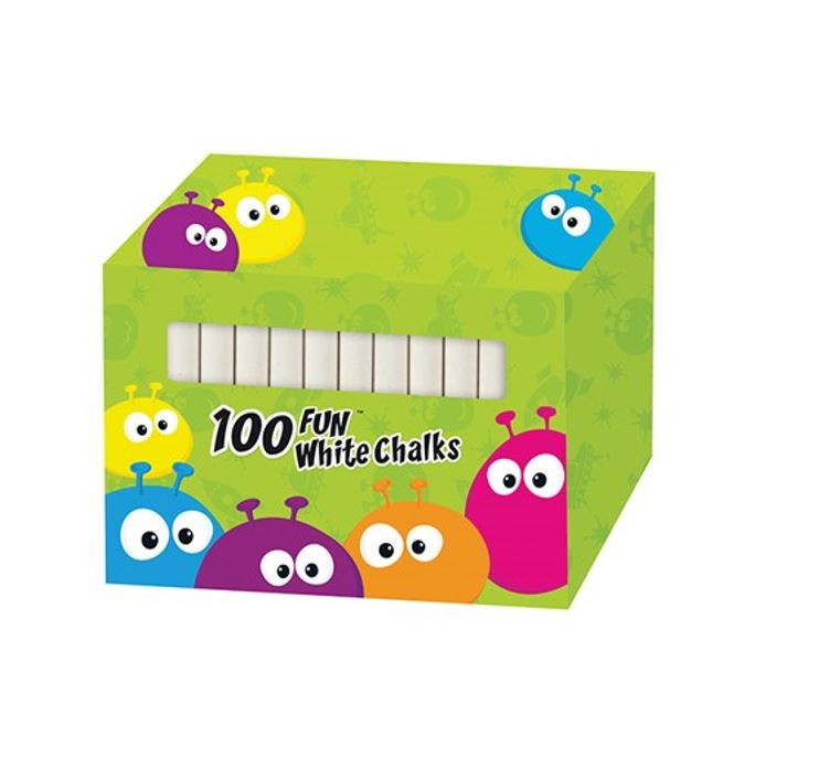 DUSTLESS WHITE CHALK 100PC