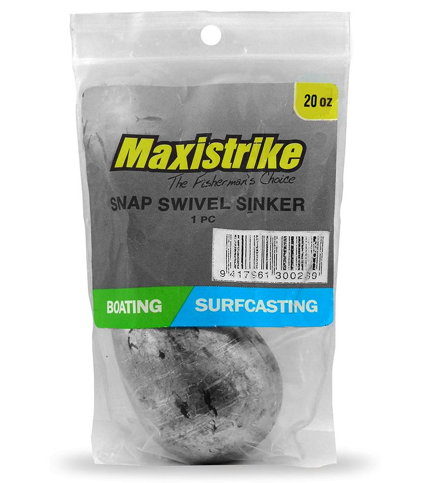 Maxistrike Snap On Sinker 20oz (1 Per Pack)