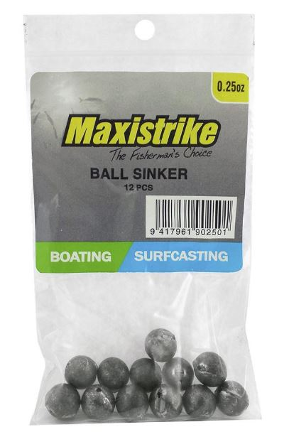 Maxistrike Ball Sinker .25oz (12 Per Pack)