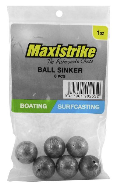 Maxistrike Ball Sinker 1.0oz (6 Per Pack)