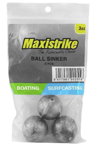 Maxistrike Ball Sinker 3oz (3 Per Pack)