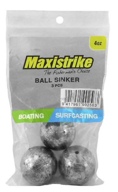 Maxistrike Ball Sinker 4oz (3 Per Pack)