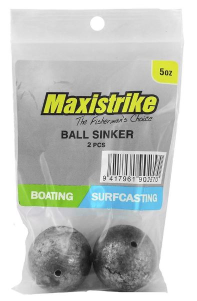 Maxistrike Ball Sinker 5oz (2 Per Pack)
