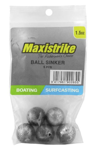 Maxistrike Ball Sinker 1.5oz (5 Per Pack)