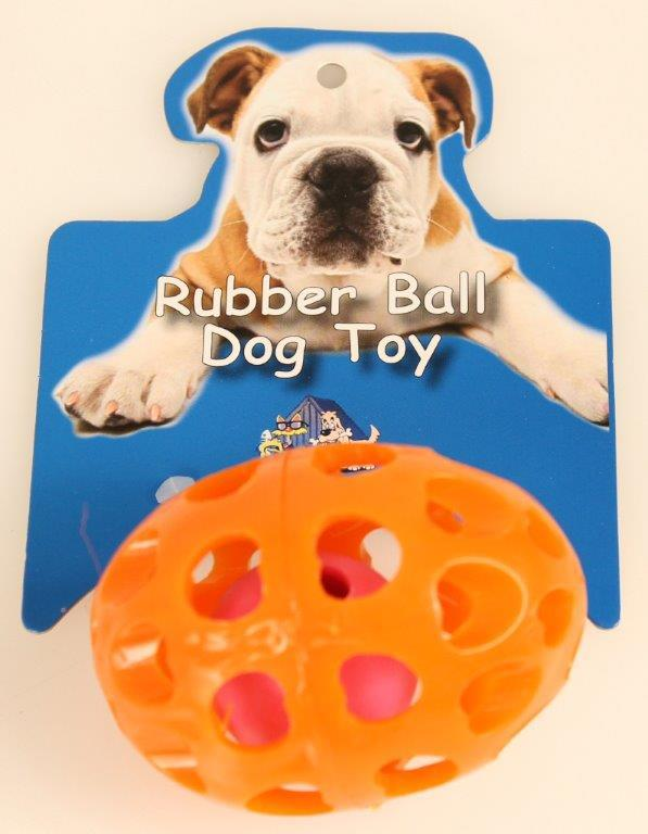DOG TOY SOFT RUBBER BALL