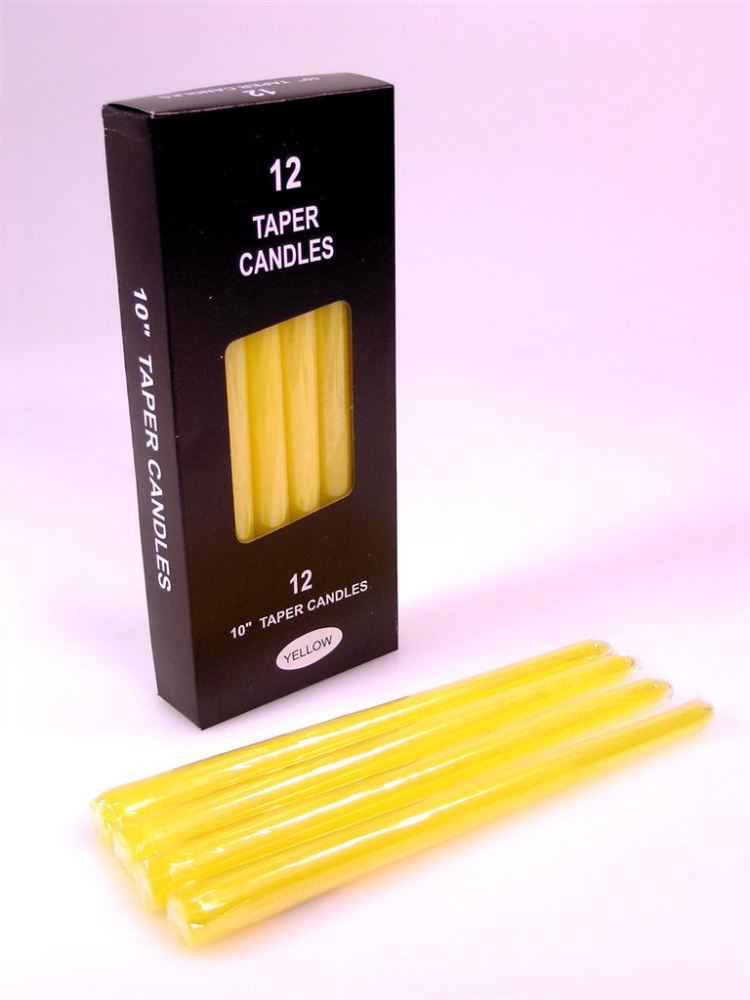 CANDLE TAPER YELLOW
