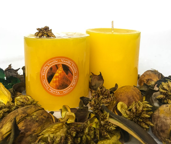 Candle Scented 3x3 Yellow (Vanilla)