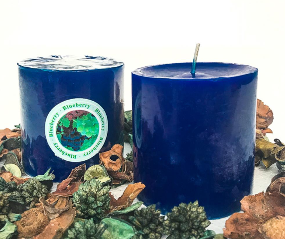 Candle Scented Dark Blue (Blueberry)