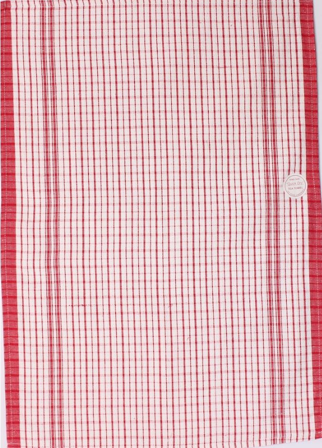 T/TOWEL QUICK DRY DOBBY - RED